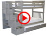 Features Video for the BK161 Tall Twin over Twin Stairway Bunk Bed with a Twin Trundle