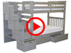 Features Video for the BK161 Tall Twin over Twin Stairway Bunk Bed with Drawers