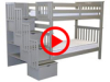 Features Video for the BK161 Tall Twin over Twin Stairway Bunk Bed