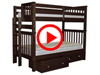 Features Video for the BK161EL Tall Twin over Twin Bunk Bed with 2 Underbed Drawers