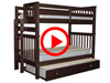 Features Video for the BK161EL Tall Twin over Twin Bunk Bed with a Twin Trundle
