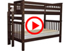 Features Video for the BK161EL Tall Twin over Twin Bunk Bed