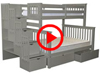 Features Video for the BK961 Twin over Full Stairway Bunk Bed with Under Bed Drawers