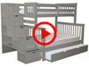 Features Video for the BK961 Twin over Full Stairway Bunk Bed with a Full Trundle