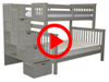 Features Video for the BK961 Twin over Full Stairway Bunk Bed