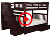 Features Video for the BK981 Full over Full Stairway Bunk Bed with Underbed Drawers
