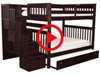 Features Video for the BK981 Full over Full Stairway Bunk Bed with Trundle