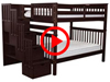 Features Video for the BK981 Full over Full Stairway Bunk Bed